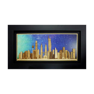 Kuala Lumpur Skyscrapers Collection 2019 design art piece home office decoration wood veneer wedding business corporate gift premium luxury hand-made present