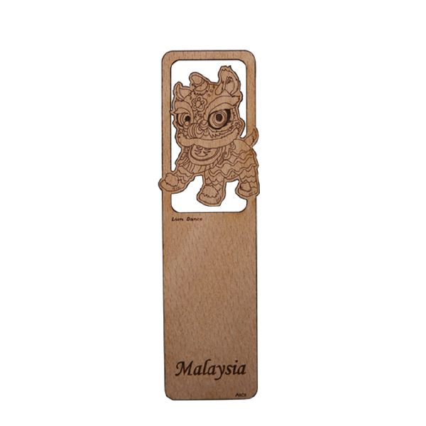 Wood Veneer Bookmarks  - Lion Dance