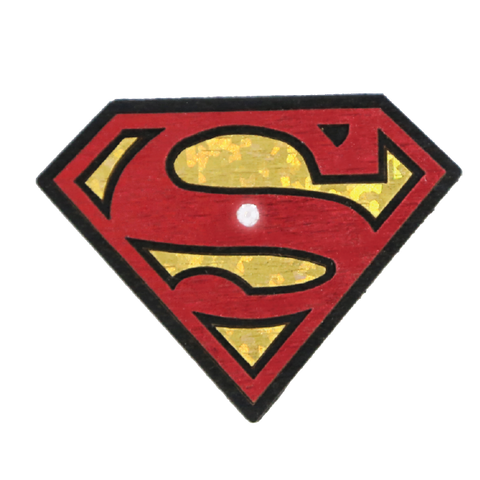 Wood Mood Stickers - Logo Superman