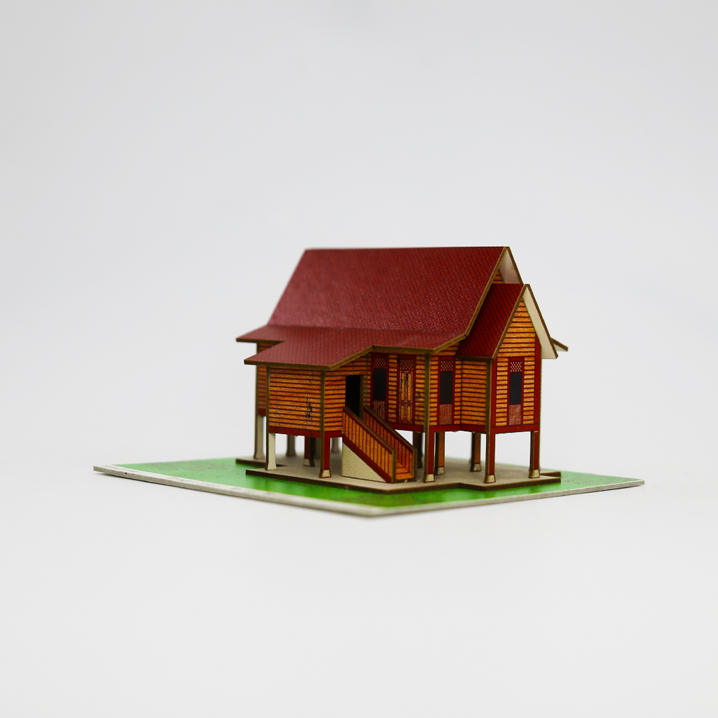 Build Your Own! Traditional Malay House Miniature Kit