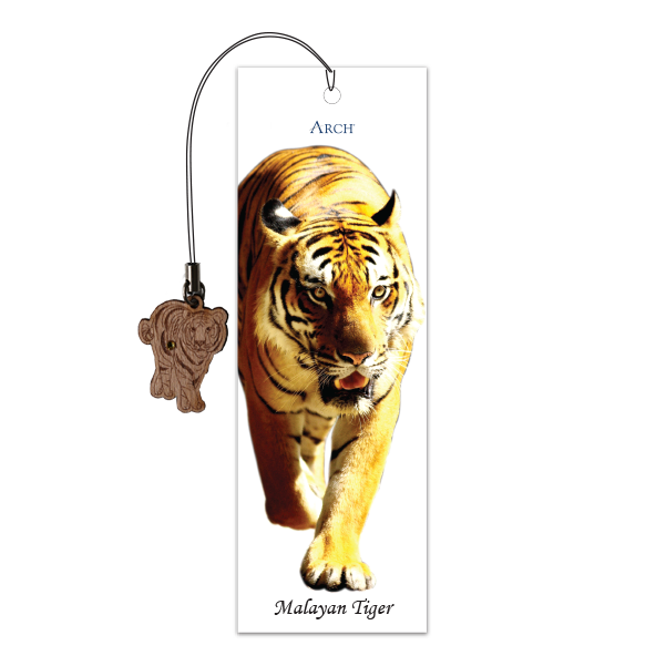 Wood Veneer Bookmarks  - Malayan Tiger - Charm