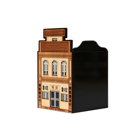 Desktop Set  - Pen Holder: Old Shophouses, Transitional