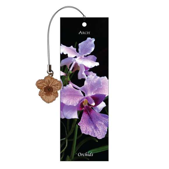 Wood Veneer Bookmarks  - Orchids - Charm