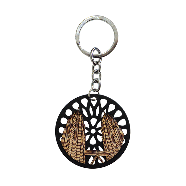 Wood Veneer Keychains  - Petronas Twin Towers