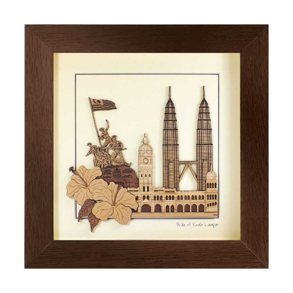 kuala lumpur malaysia heritage design art piece home office decoration wood veneer wedding business corporate gift premium luxury hand-made present