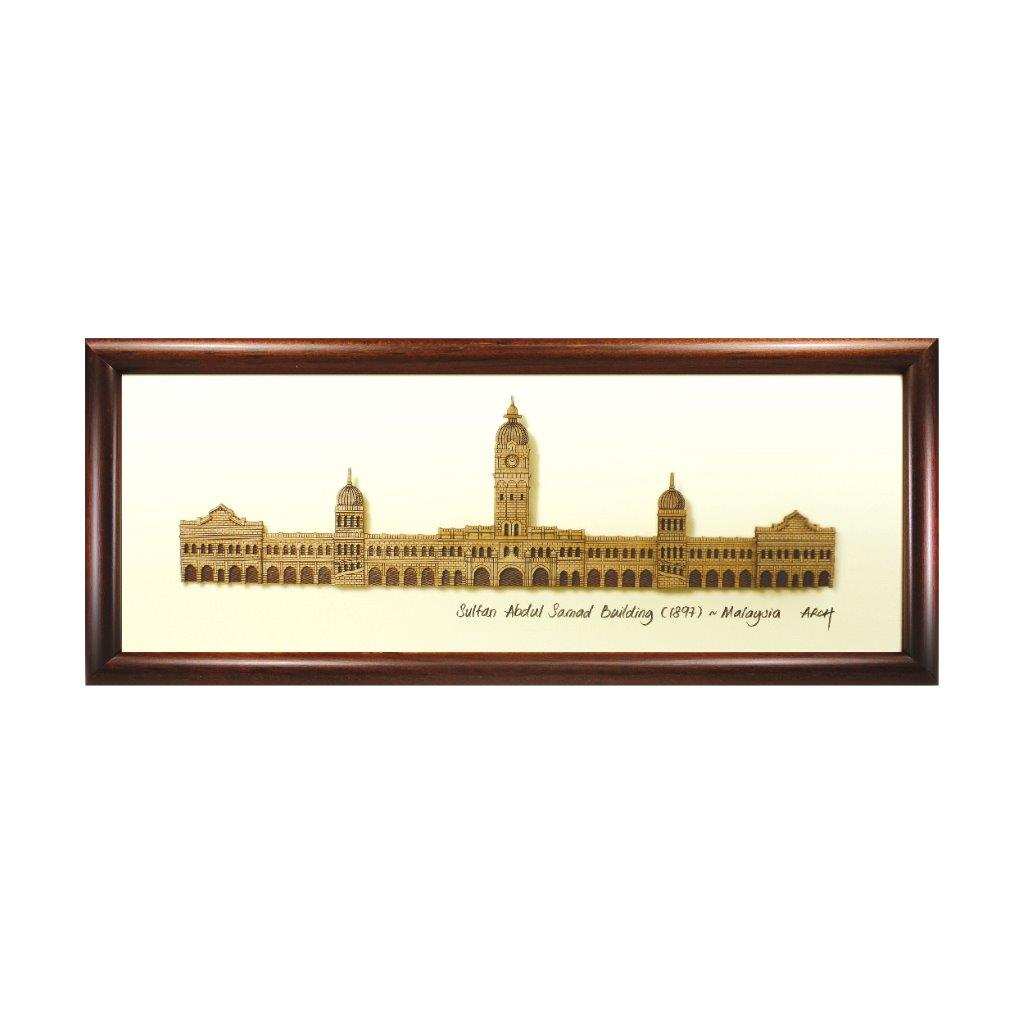 Sultan Abdul Samad Building heritage design art piece home office decoration wood veneer wedding business corporate gift premium luxury hand-made present