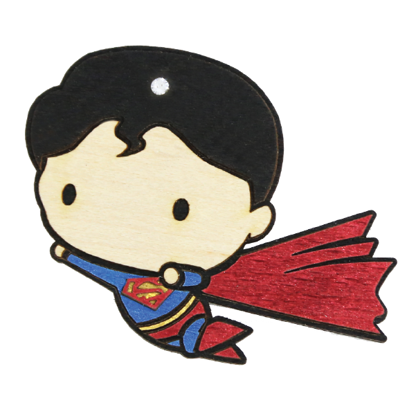 Wood Mood Stickers - Superman