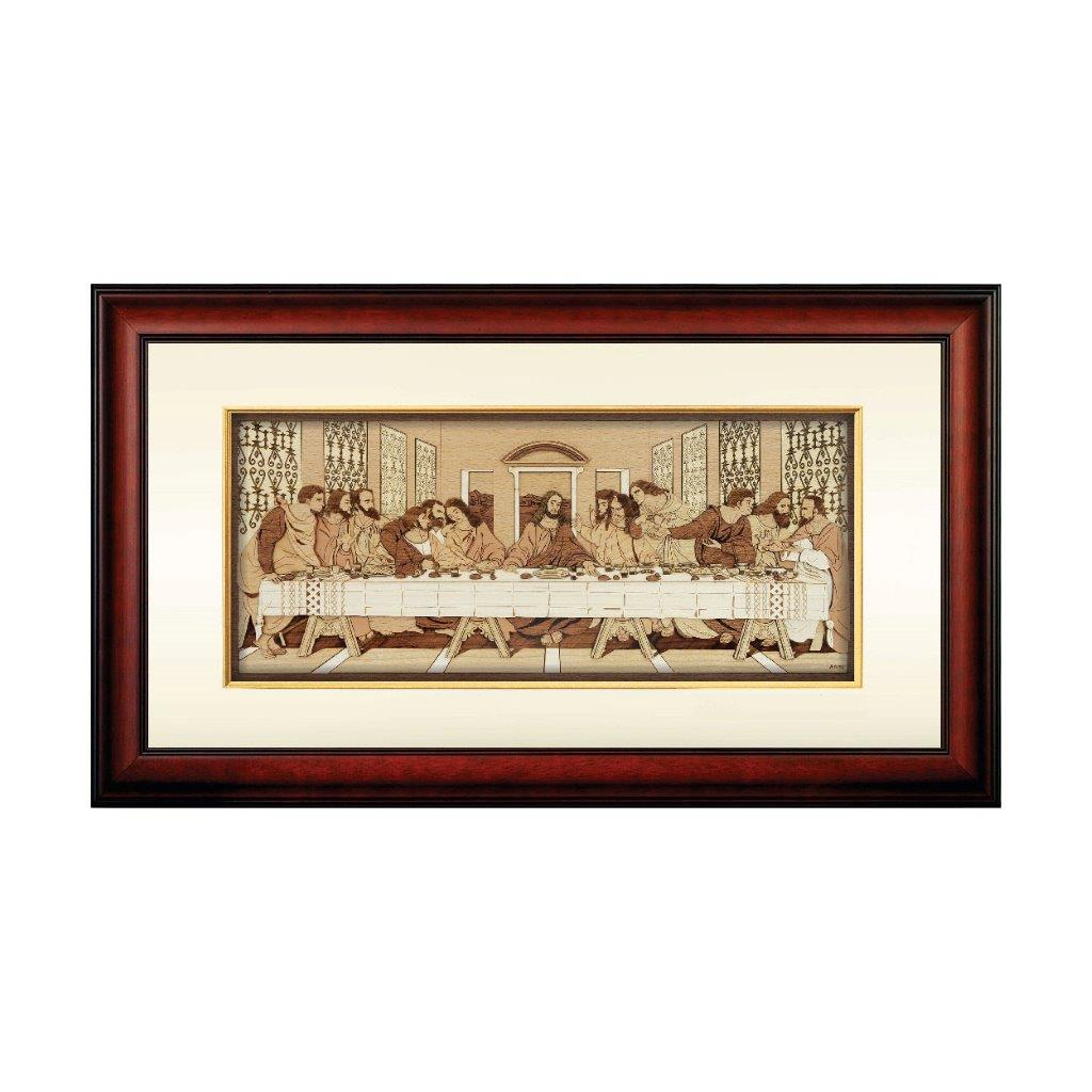 The Last Supper christian Leonardo da Vinci design art piece home office decoration wood veneer wedding business corporate gift premium luxury hand-made present painting