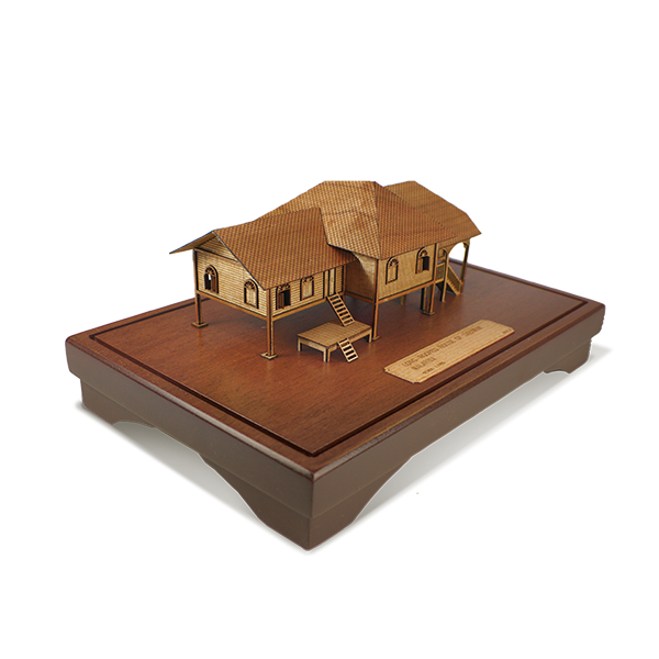 3-D Miniatures  - Traditional Malay House - Sarawak
