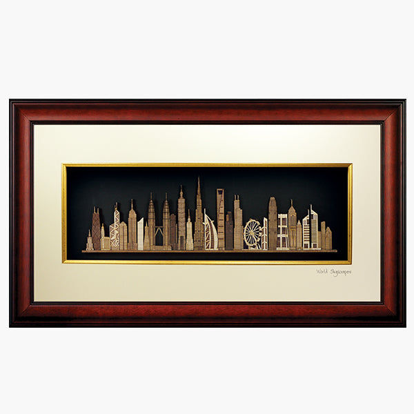 2-D Art Pieces  - World Skyscrapers
