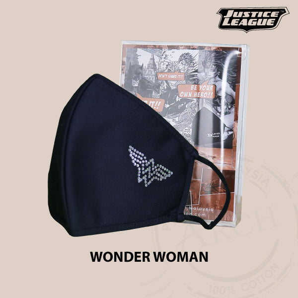 Justice League Face Mask with Swarovski - Wonder Woman