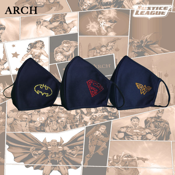 Justice League Face Mask with Swarovski - Batman