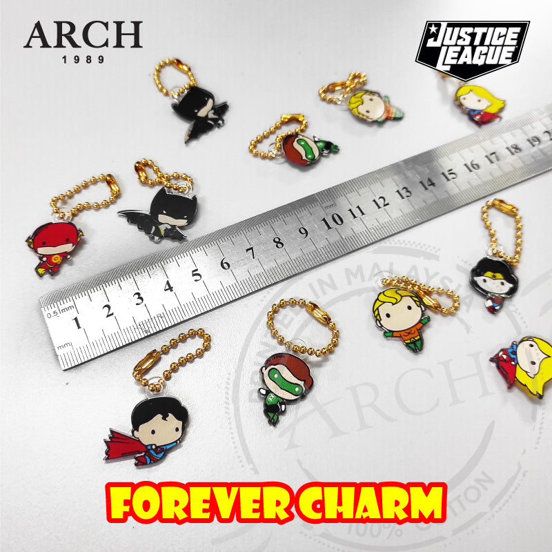 Original DC Justice League Superhero Character Forever Charm - Flash