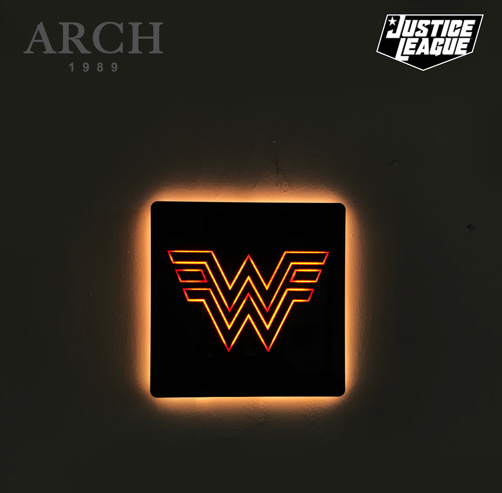 Original Justice League Decorative LED Wall Light Box Wonder Woman Logo