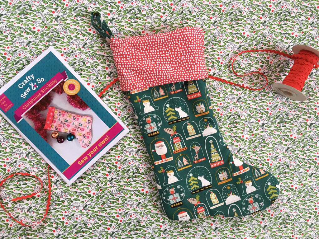 Christmas stocking sewing pattern tutorial