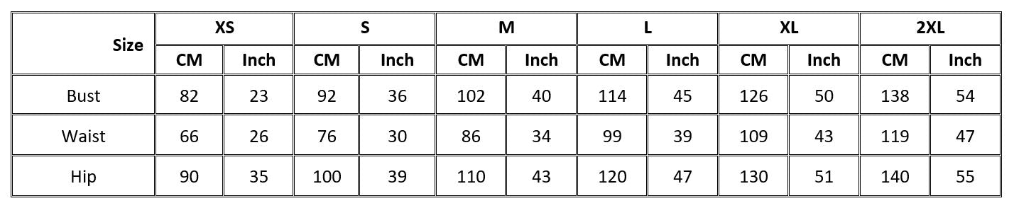 3 by 3 tees size chart