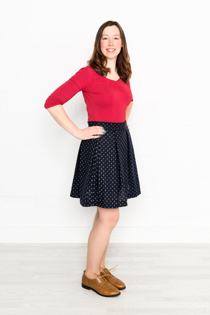 sarah wearing all the cute skirts - gathered