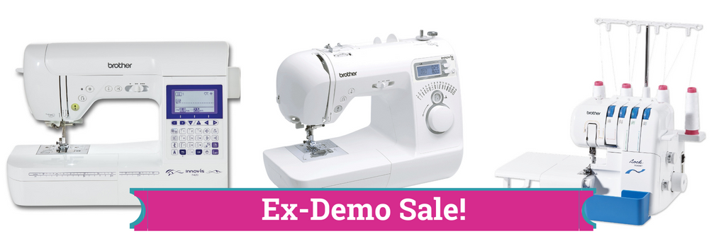 sewing machine exdemo sale