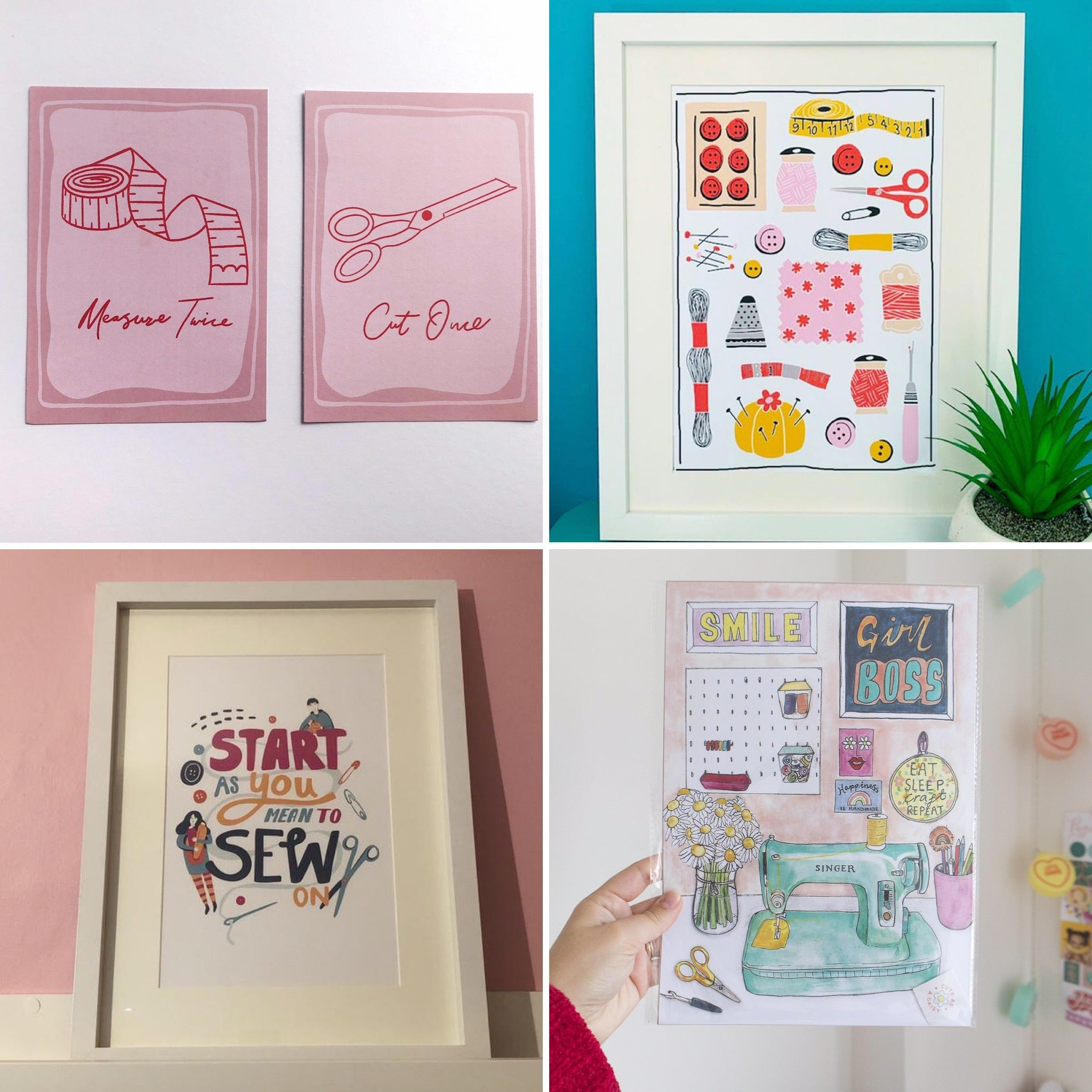Sewing themed art prints