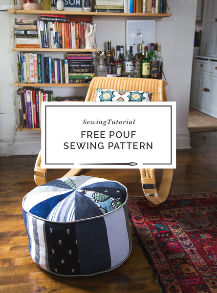 Closet Case Patterns Pouf  Sewing Pattern Scrap Busting