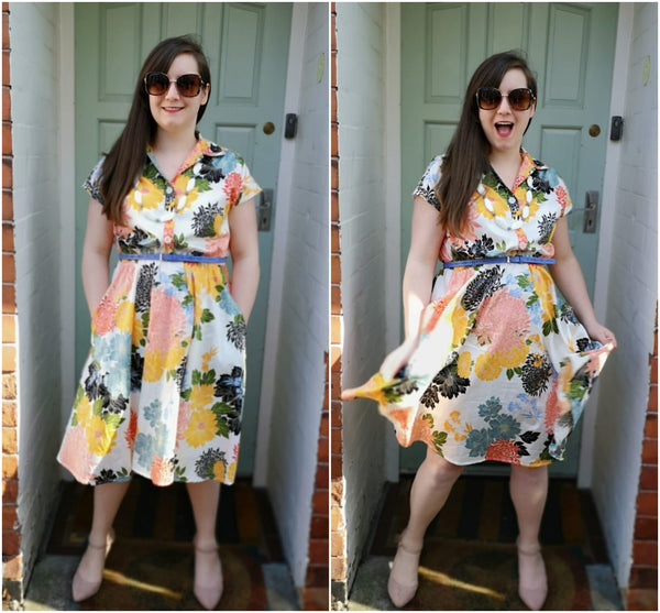 Freya Penny Dress in Kirsty Cotton Sateen