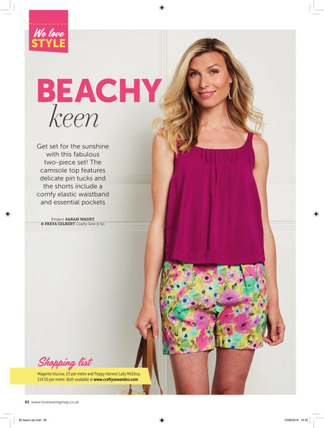 love sewing beachy keen sewing pattern crafty sew and so magazine