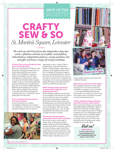 love sewing shop of the month crafty sew and so