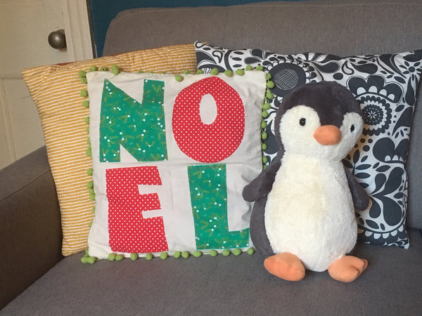 Noel Christmas Cushion Tutorial