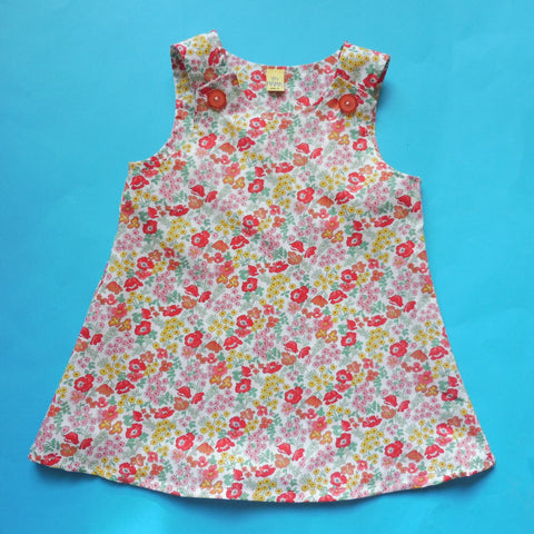 mini pinny children's dress pattern sew along