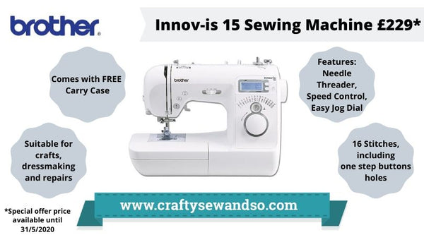 Brother Sewing Machine Innovis 15 Special Offer