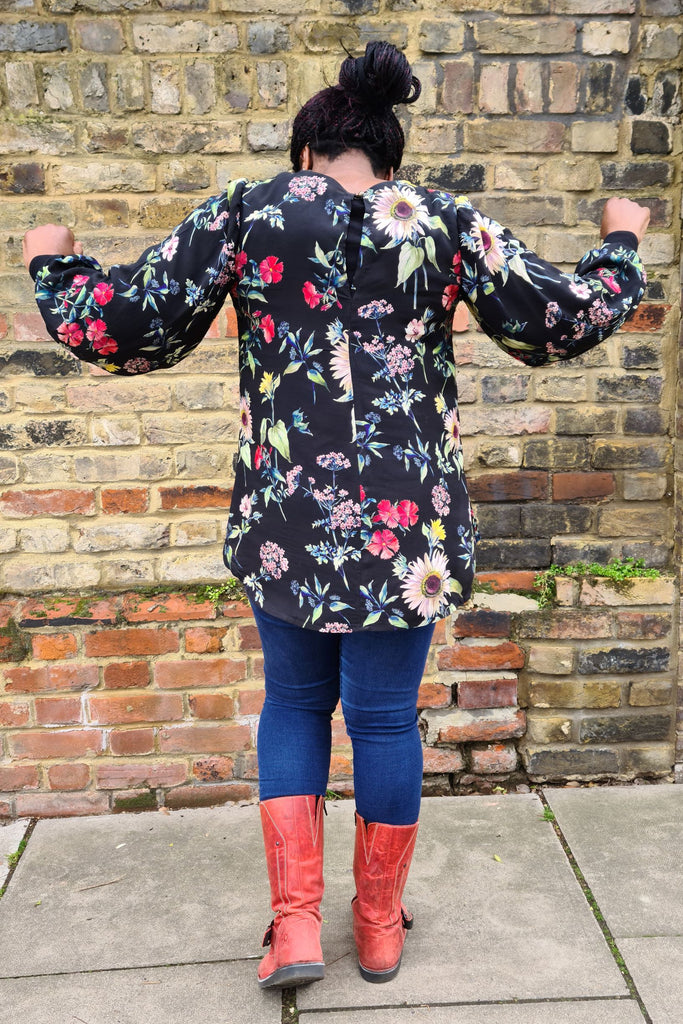Crafty Blogger's Club model wears and Everyday Amazing top