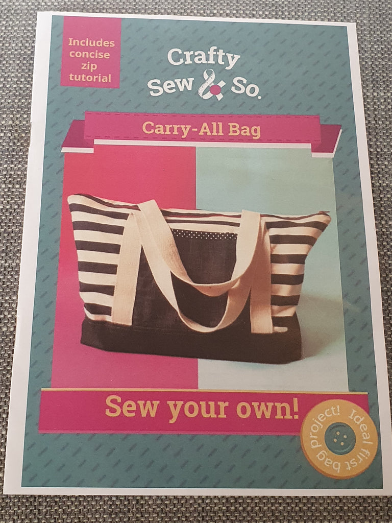 Crafty Sew&So Carry All Bag pattern