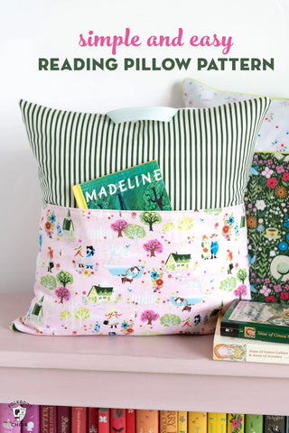 reading pillow pattern