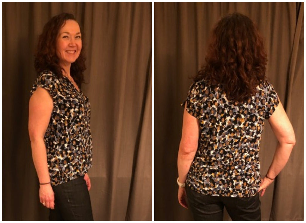 crafty bloggers club eveyln blouse