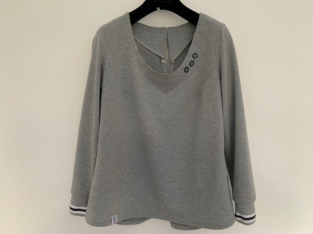Everyday Amazing Top in grey jersey fabric
