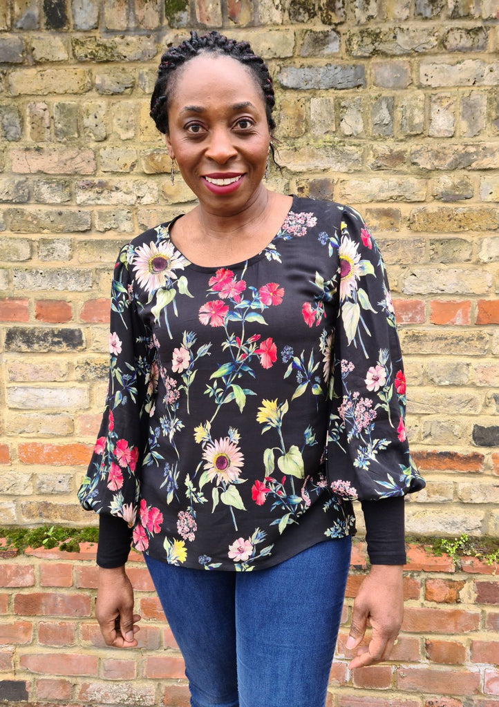 Crafty Bloggers' Club model wears and Everyday Amazing Top