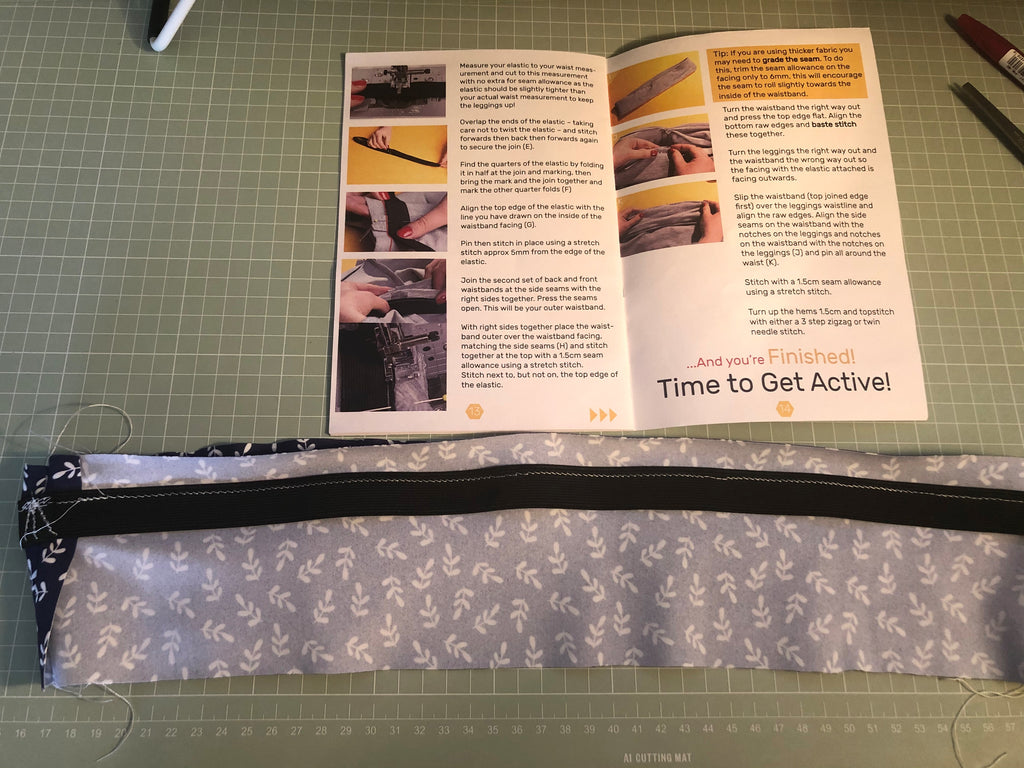 Fabric and pattern for the Action Pack Leggings