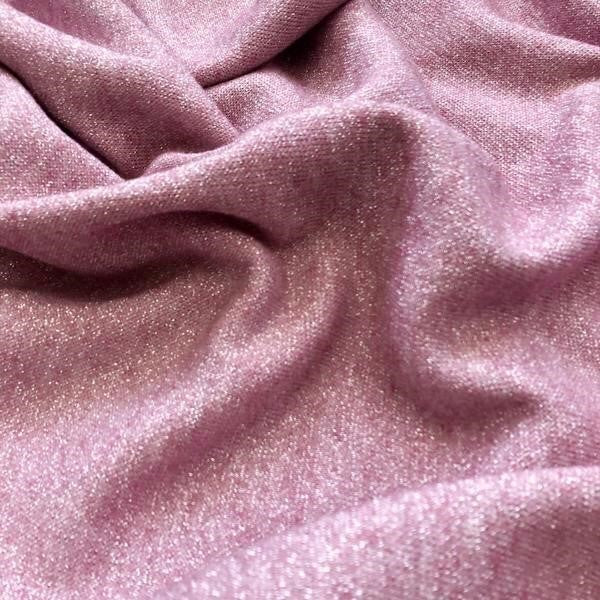 Soft Pink Lurex Jersey fabric