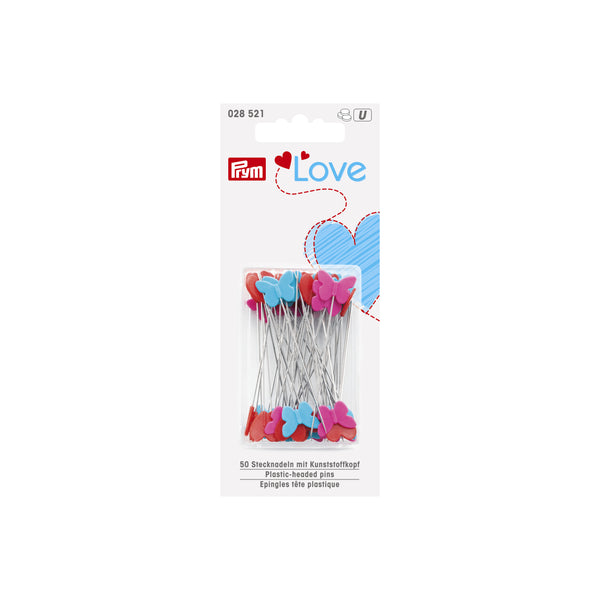 Prym Love Heart-shaped Plastic Headed Pins