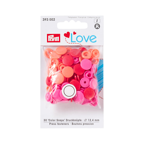 Prym Love Colour Snaps - Red and Pink