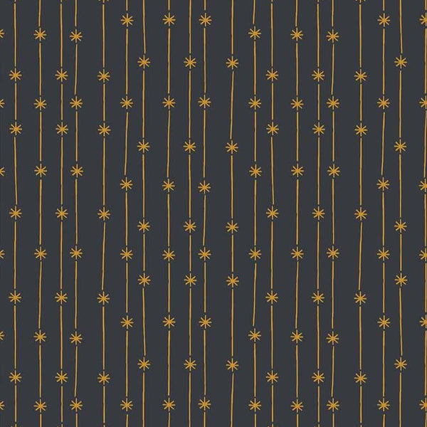Dark Grey with Gold Star Line Premium Craft Cotton