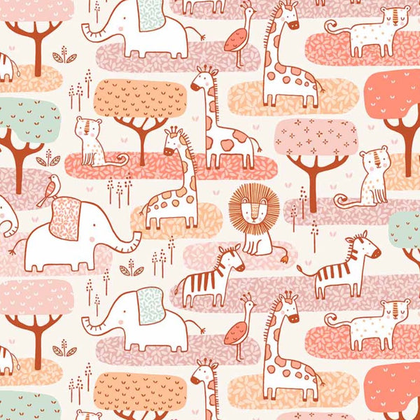 Savannah Sunset Animal Jamboree Premium Craft Cotton