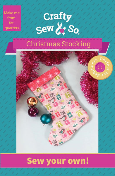 Fat Quarter Christmas Stocking Paper Pattern