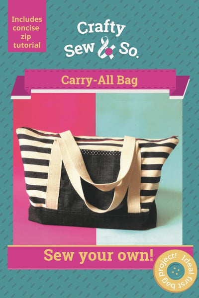 Crafty Sew & So Carry All Bag Paper Pattern