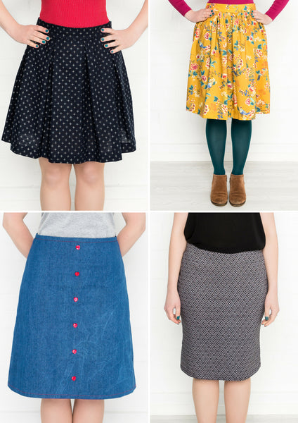 Dressmaking - All the Cute Skirts with My Handmade Wardrobe Patterns