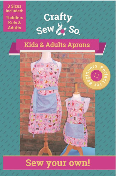 Crafty Sew & So Adults and Childrens Apron PDF Pattern