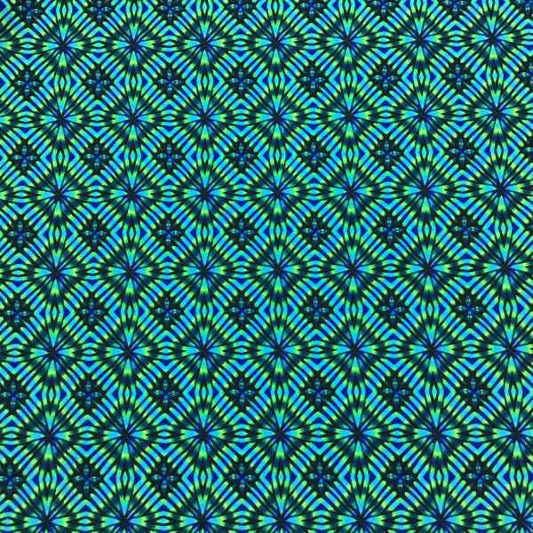 Green and Blue Tribal Diamonds Swim and Sports Lycra