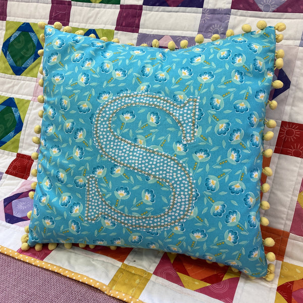 Live Online Workshop - Appliquéd and embellished cushion cover
