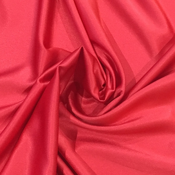 Red Crepe Backed Satin