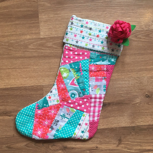 Christmas Crazy Patchwork Stocking